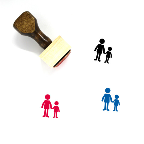 Father And Son Wooden Rubber Stamp No. 11