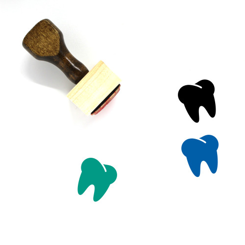 Tooth Wooden Rubber Stamp No. 11