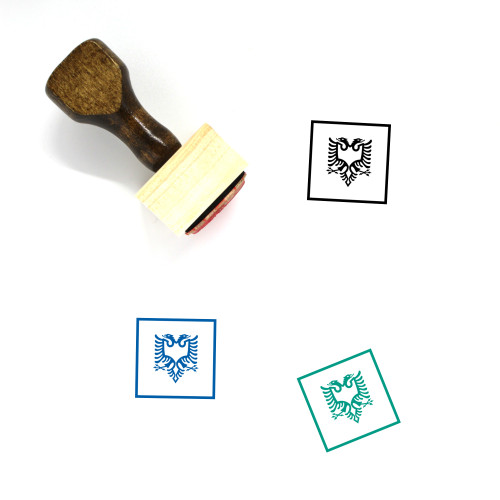 Albania Wooden Rubber Stamp No. 5