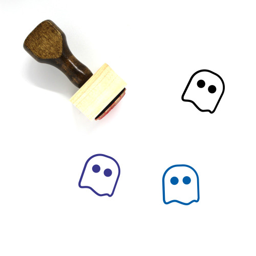 Ghost Wooden Rubber Stamp No. 94