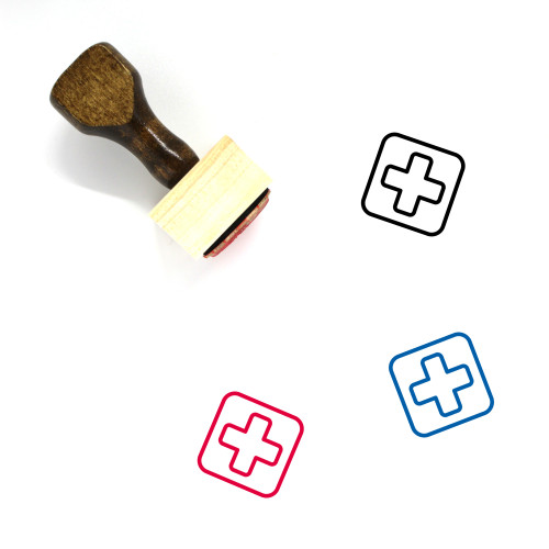 First Aid Wooden Rubber Stamp No. 30