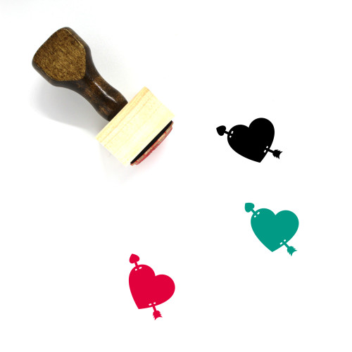 Love Arrow Wooden Rubber Stamp No. 5