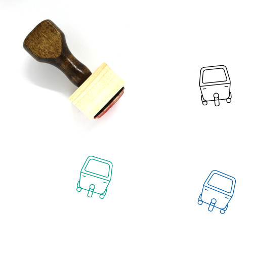Auto Rickshaw Wooden Rubber Stamp No. 3