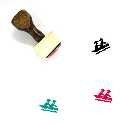 Canoe Wooden Rubber Stamp No. 14