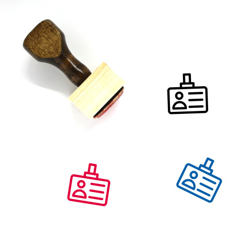 Id Card Wooden Rubber Stamp No. 22