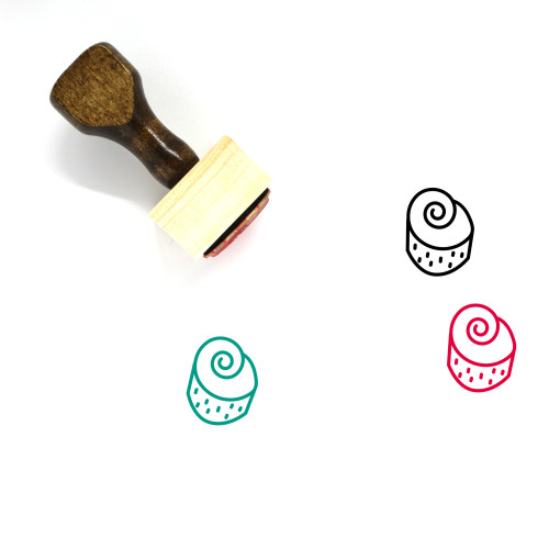 Sweet Roll Wooden Rubber Stamp No. 1