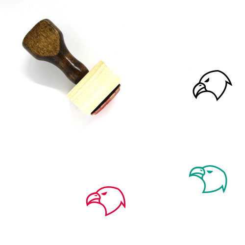 Eagle Face Wooden Rubber Stamp No. 19