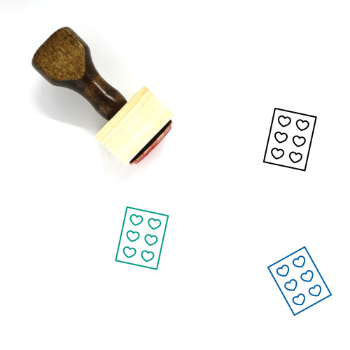 Chocolates Wooden Rubber Stamp No. 2