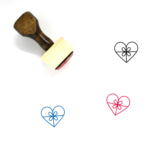 Love Gift Wooden Rubber Stamp No. 23