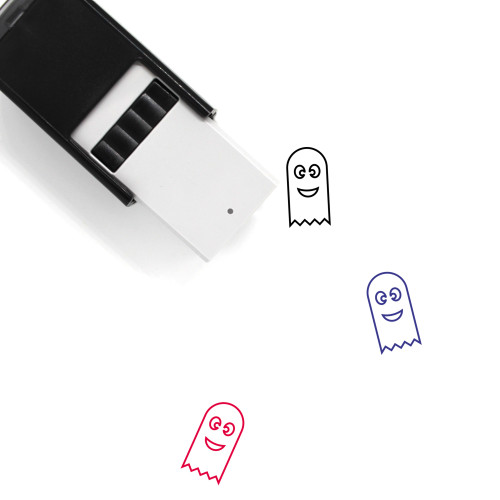 Happy Ghost Self-Inking Rubber Stamp No. 1