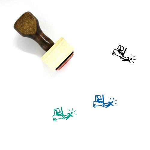 Run Over Wooden Rubber Stamp No. 1