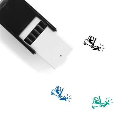Run Over Self-Inking Rubber Stamp No. 1