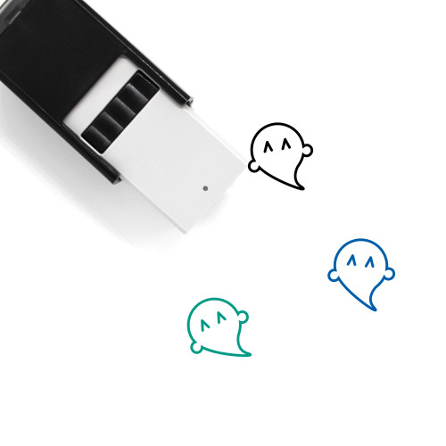 Happy Ghost Self-Inking Rubber Stamp No. 2