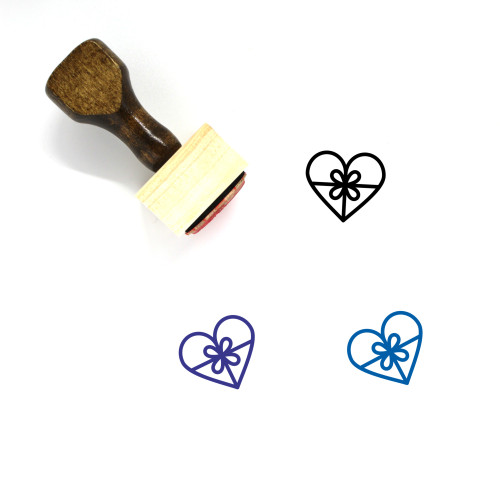 Love Gift Wooden Rubber Stamp No. 24