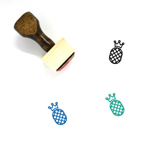Pineapple Wooden Rubber Stamp No. 22