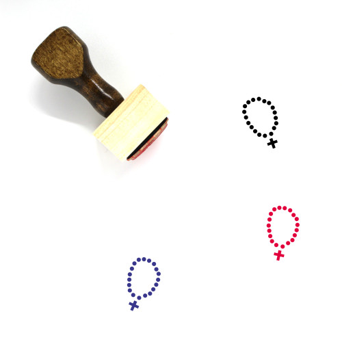 Rosary Wooden Rubber Stamp No. 10