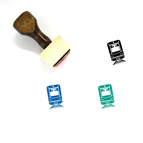 Lynx Train Wooden Rubber Stamp No. 1