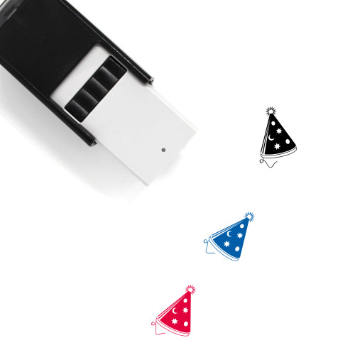Party Hat Self-Inking Rubber Stamp No. 19