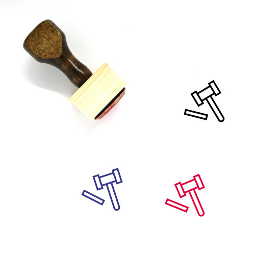 Hammer Wooden Rubber Stamp No. 36