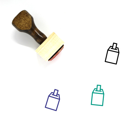 Voting Booth Wooden Rubber Stamp No. 3