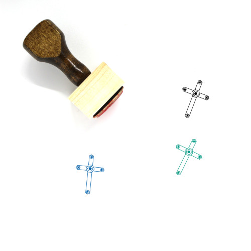 Cross Wooden Rubber Stamp No. 121