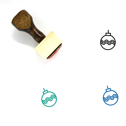 Ornament Wooden Rubber Stamp No. 133