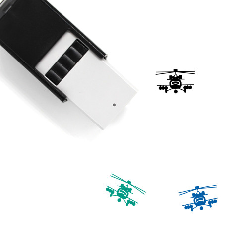 Fighter Jet Self-Inking Rubber Stamp No. 14