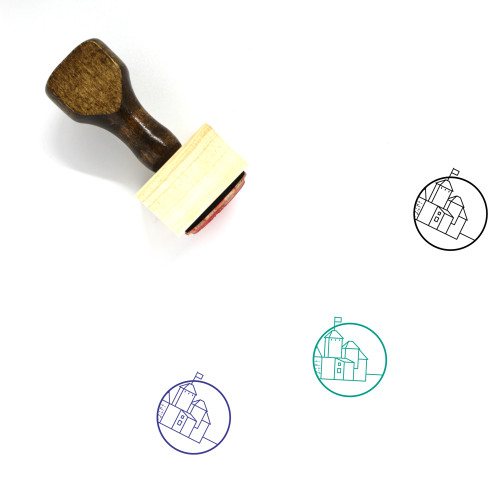 Lake View Cemetery Wooden Rubber Stamp No. 2
