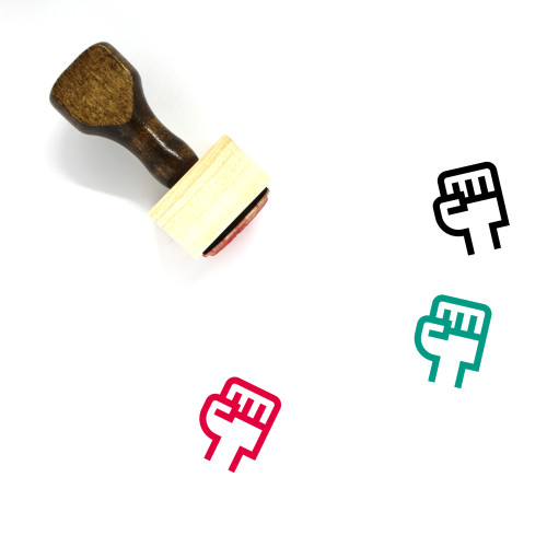 Solidarity Wooden Rubber Stamp No. 3