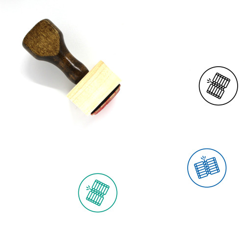 Crackers Wooden Rubber Stamp No. 13
