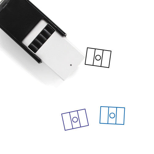 Mexican Flag Self-Inking Rubber Stamp No. 4