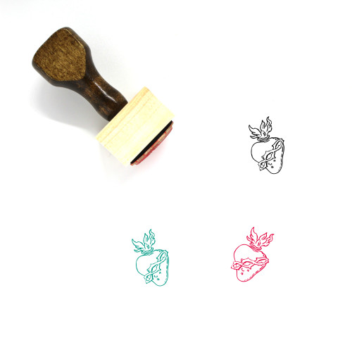 Sacred Heart Wooden Rubber Stamp No. 5