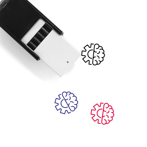 Brain And Settings Self-Inking Rubber Stamp No. 1