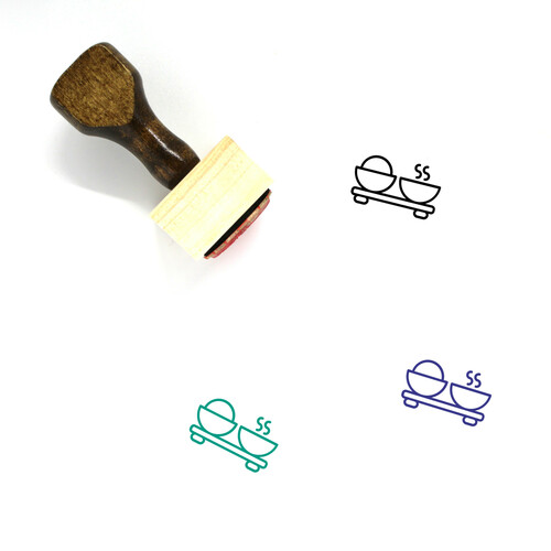Rice And Soup Wooden Rubber Stamp No. 1