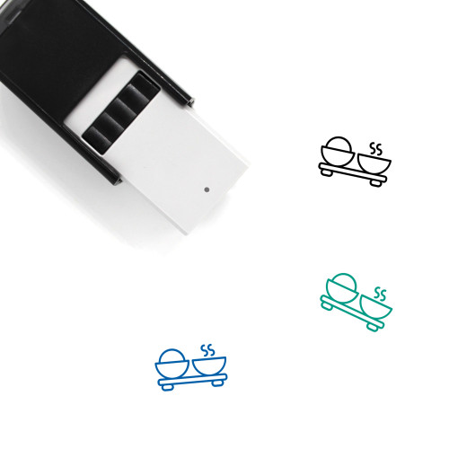 Rice And Soup Self-Inking Rubber Stamp No. 1