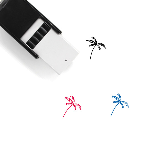 Palm Tree Self-Inking Rubber Stamp No. 135