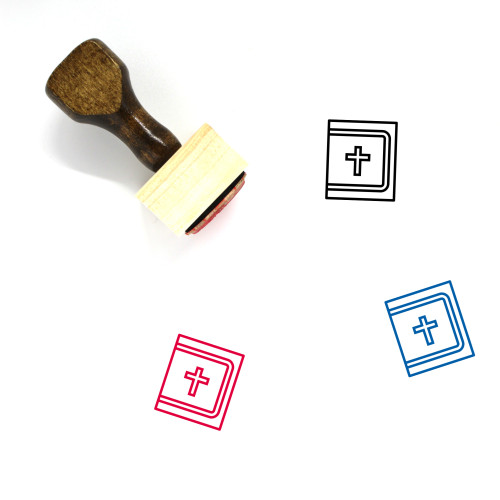 Holy Bible Wooden Rubber Stamp No. 19