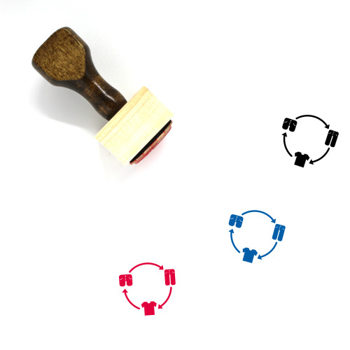 Clothes Exchange Wooden Rubber Stamp No. 1