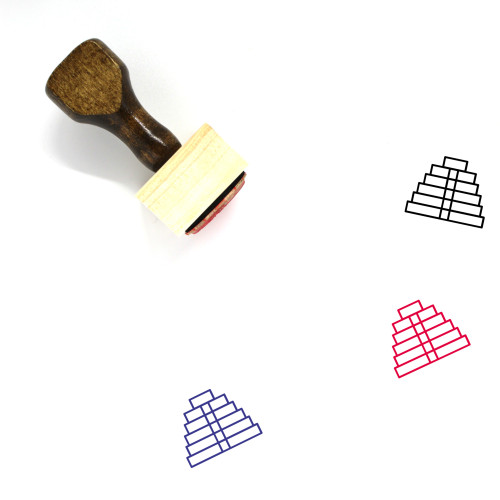 Inca Temple Wooden Rubber Stamp No. 2