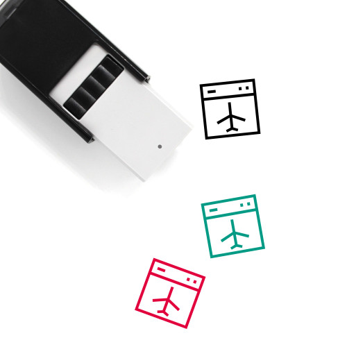 Airplane Mode Self-Inking Rubber Stamp No. 2