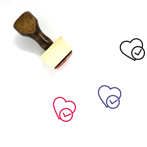 Accept Love Wooden Rubber Stamp No. 1