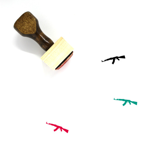 AK47 Wooden Rubber Stamp No. 1
