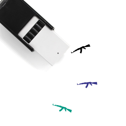 AK47 Self-Inking Rubber Stamp No. 1