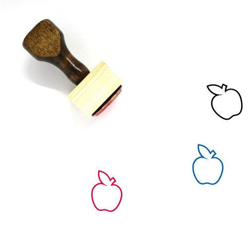 Apple Wooden Rubber Stamp No. 127
