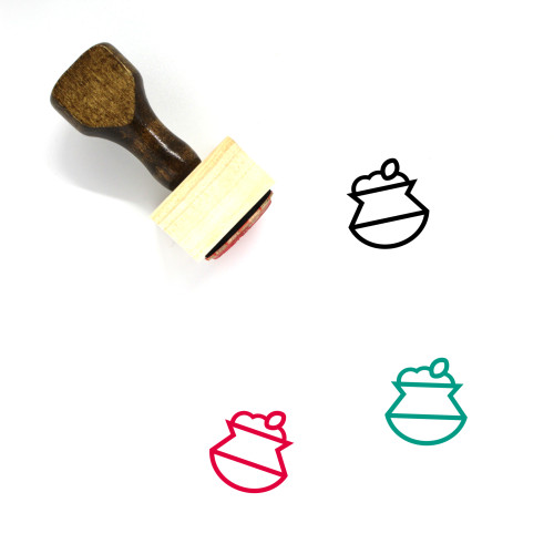 Biryani Pot Wooden Rubber Stamp No. 5