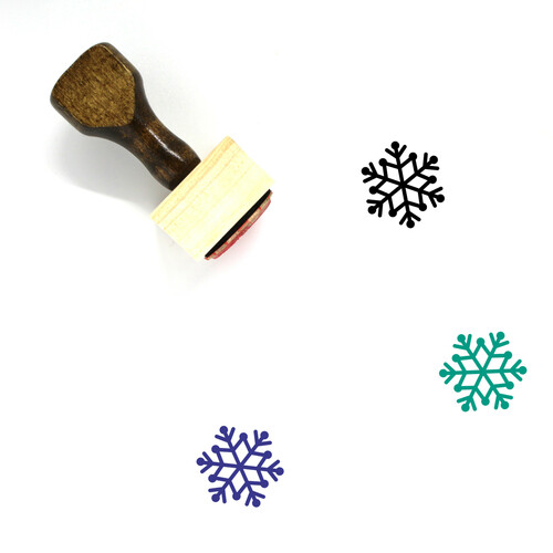 Snowflake Wooden Rubber Stamp No. 126