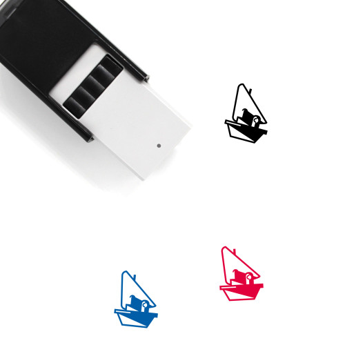 Sailboat Self-Inking Rubber Stamp No. 21