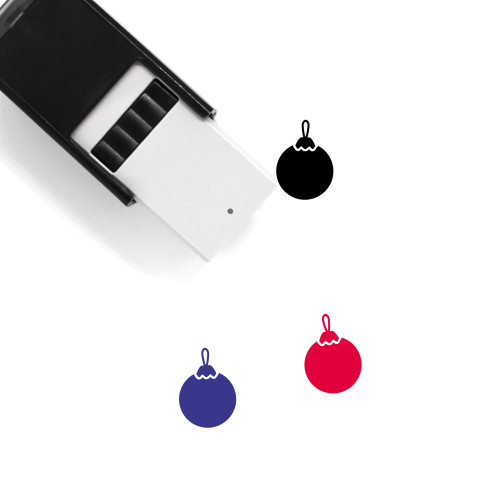 Christmas Ornament Self-Inking Rubber Stamp No. 50