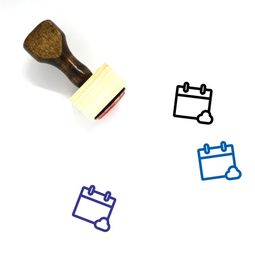 Cloud Event Wooden Rubber Stamp No. 1