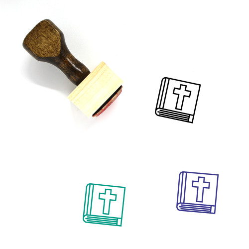 Bible Wooden Rubber Stamp No. 68